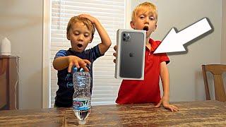 Bottle Flip Challenge for iPhone 11 | Colin Amazing