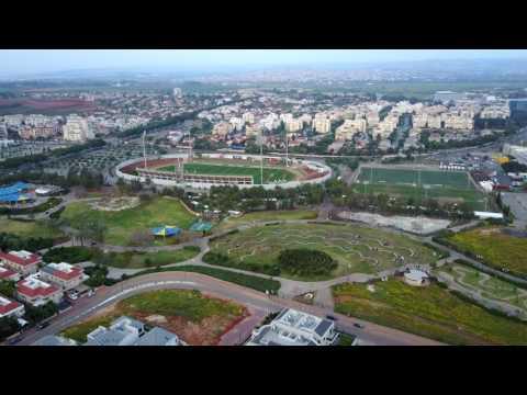 Israel from Above - Kfar Saba (4K)