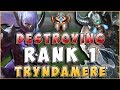 DESTROYING RANK 1 TRYND | IRELIACARRIESU DOING WHAT TF BLADE CANT DO - League of Legends