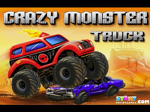 play crazy monster truck free online games youtube. Black Bedroom Furniture Sets. Home Design Ideas