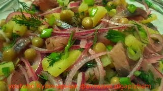 Невероятно вкусный и простой салат с сельдью & Съедается за пару минут  - Быстрые рецепты