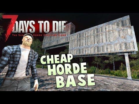 7 Days to Die Base Building Guide | Surviving 7 Day Horde on a Budget | 7 Day horde base design -