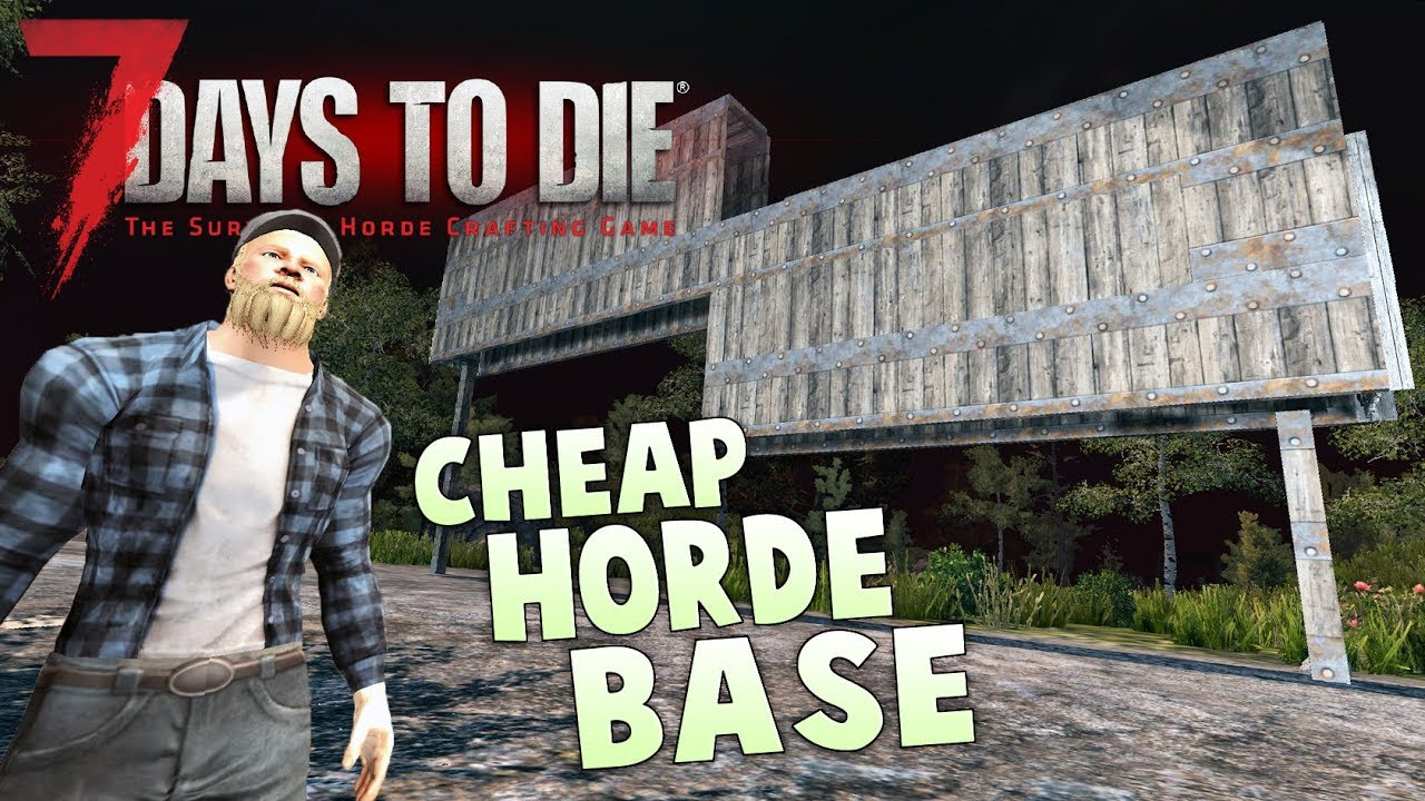 7 Days To Die Base Tutorial Build The Best Base In The Game Early Game Base Tutorial Alpha 14 Youtube
