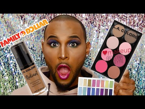FULL FACE USING ONLY L.A COLORS! Family Dollar Makeup