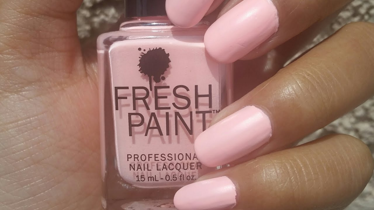 NOTD Fresh Paint Matte-ly in Luv - YouTube