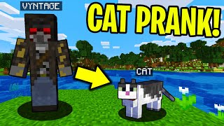 PRANKING AS A CAT IN MINECRAFT! - Minecraft Trolling Video