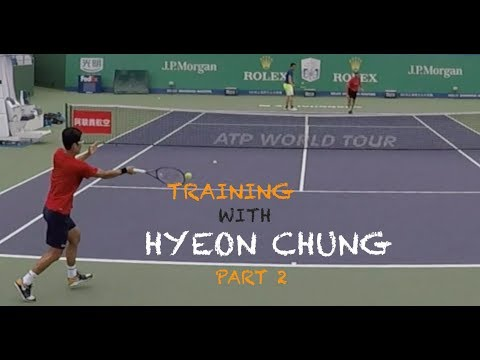 Training With Hyeon Chung - Part 2 | Rolex Shanghai Masters 2018 (TENFITMEN)