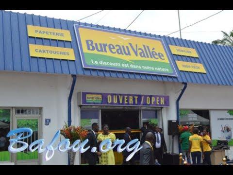 Cérémonie d'inauguration et d'ouverture du magasin Bureau Vallee de Douala au Cameroun
