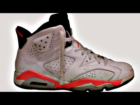 Customizing a pair of Air Jordan 6 Infrared Retros