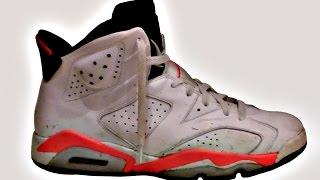 Customizing a pair of Air Jordan 6 Infrared Retros