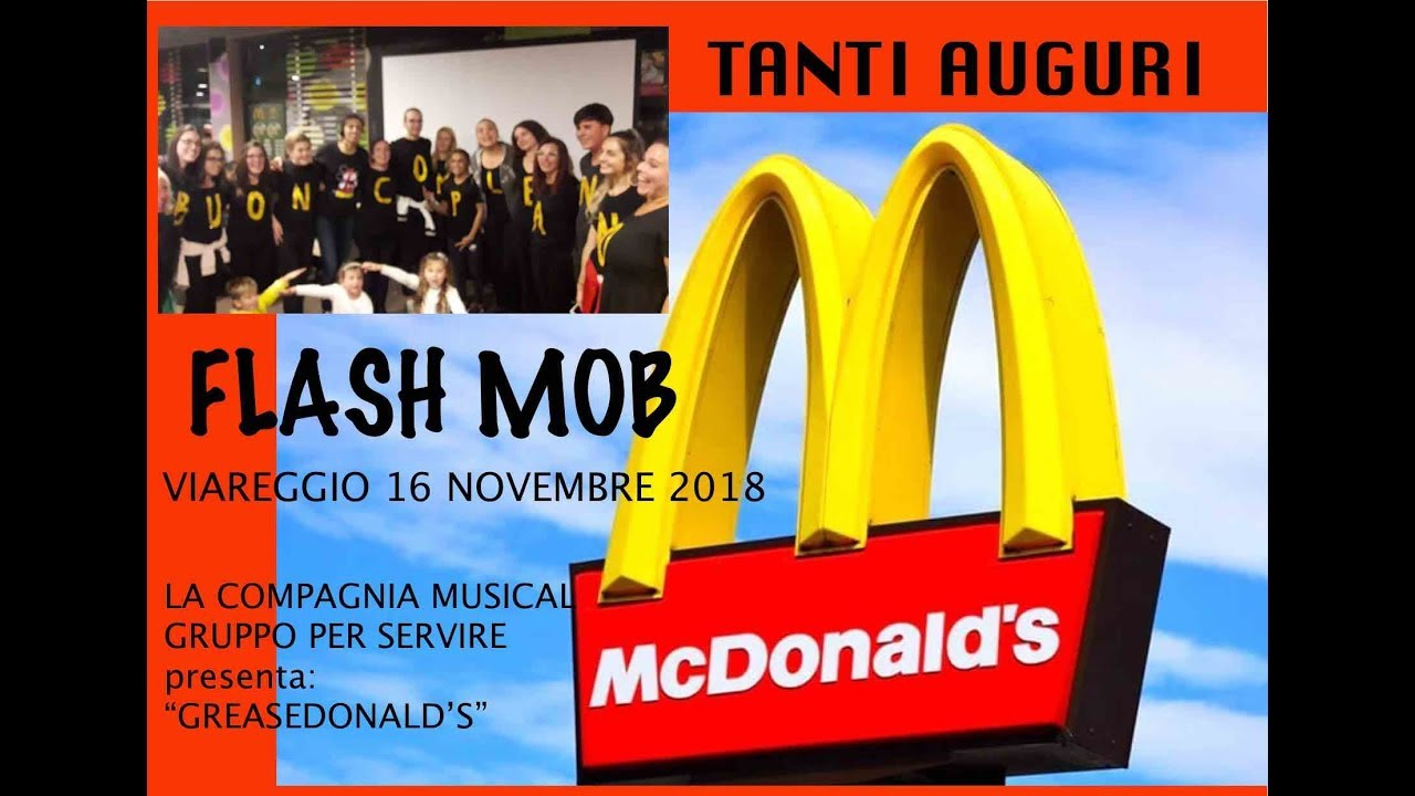 Flash Mob 1 Compleanno Mcdonald S Youtube