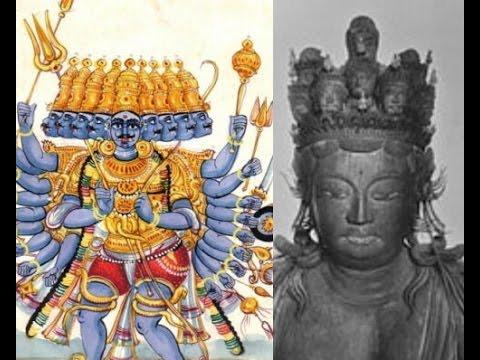 2291(1)Ravana in Sigiriyaシギリヤのラバナ神・謎の悪霊+日本の十一面観音Eleven Faced Saint in Japan