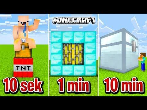 Minecraft BUDUJĘ SEJF W 10 SEKUND, 1 MINUTĘ I 10 MINUT!
