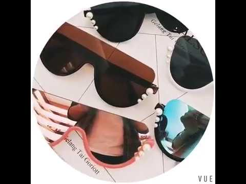 d8621aa1111 Luxury Oversized Pearls Sunglasses Fashion Big Frame - YouTube
