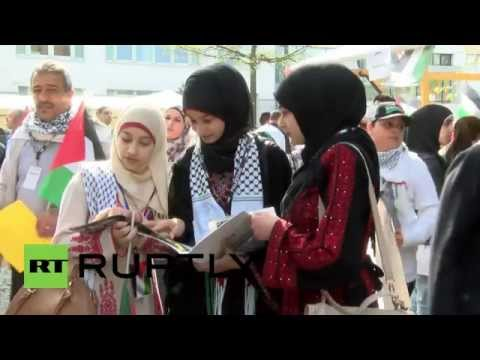 "Germany: Thousands say ""I love Palestine"" at Palestinians in Europe Conference"