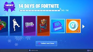 *NEW* 14 DAYS OF FORTNITE SECRET FINAL GIFT! (Fortnite: Free Daily Rewards)