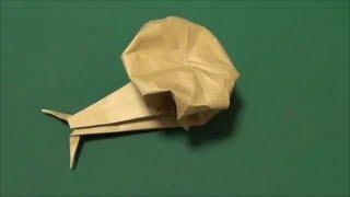 かたつむりを折り紙で作る分かりやすい動画