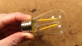 Beautifully simple 12V glass LED filament lamp. thumbnail