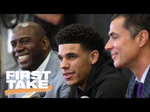 LeBron James Or Lonzo Ball: Who Would Be Face Of Lakers? | First Take | June 26, 2017