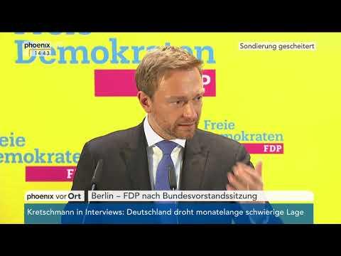 Pressekonferenz der FDP zum Abbruch der Sondierung am 20.11.17