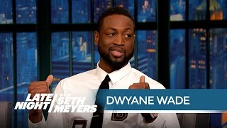 Dwyane Wade Can't Resist Watching the NBA Playoffs - Late Night with Seth Meyers