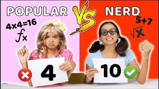 DESAFIO DA MATEMÁTICA NA ESCOLA!! Criança Nerd VS POPULAR!!