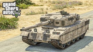 รถถังขับไปไหน???? ตามติดชีวิตทหาร GTA V Mod