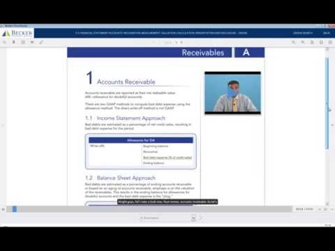 Becker CPA Final Review Course Demo: Financial 2A