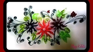 How to Make DIY Quilling Paper Design -  Quilling Tutorial / Art / Flower Design /  Ideas!