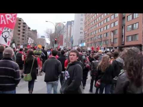 Le 14 Avril Demonstration Contre Le Hausse Tuition