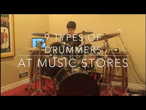 9 Types of Drummers at Music Stores