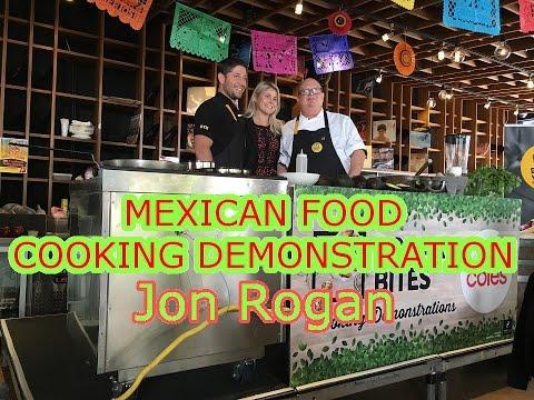JON ROGAN - Mexican Live Food Demonstration (4K)!!