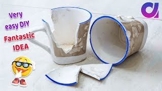 DIY easy craft /broken cup craft | HOME DECOR 2018 | Best out of waste | Artkala