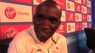 "Eliud Kipchoge wants to run a ""beautiful race"" at 2018 London Marathon"