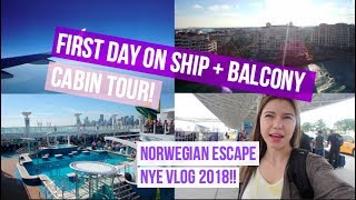 NORWEGIAN ESCAPE CRUISE VLOG! | Day 1 (New Years)