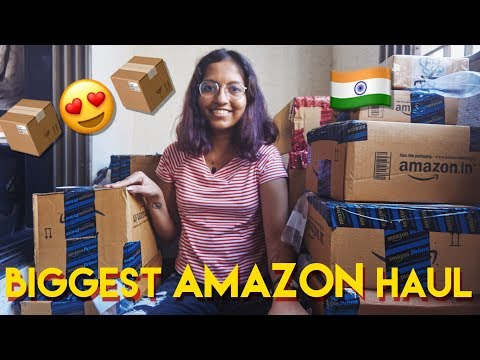 Biggest Amazon India Shopping Haul - Food & More! Diwali Shopping // #MagaliVlogs
