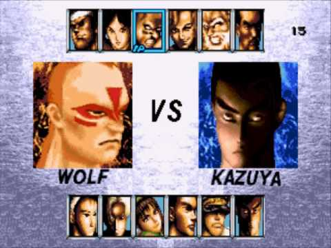 Virtua Fighter 2 vs Tekken 2 Sega Genesis Character Select ...
