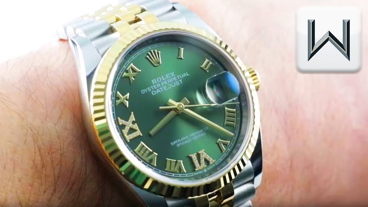 Rolex Datejust 36 Olive Green Steel Gold (126233) Luxury Watch Review