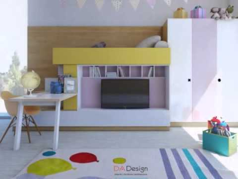 Colorful Kids Room Designs With Plenty Of Storage Space YouTube - Colorful kids room designs with plenty of storage space