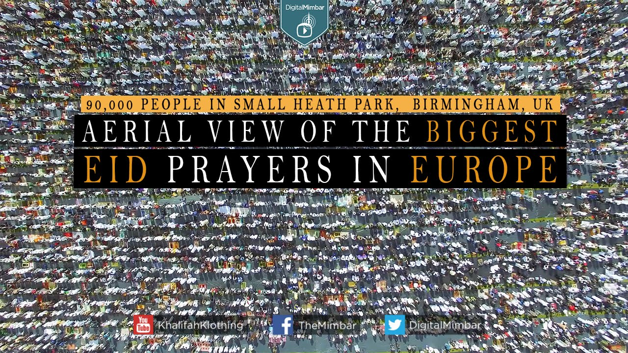 Bildresultat för Aerial View of the Biggest Eid Prayers in Europe 90,000 People
