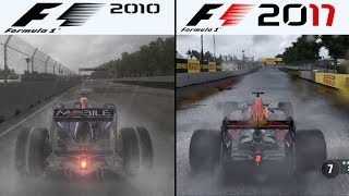 F1 Game Comparison (2010 - 2017 Rain Gameplay Comparison)
