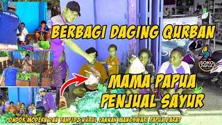 Daging Qurban untuk Mama Papua Penjual Sayur