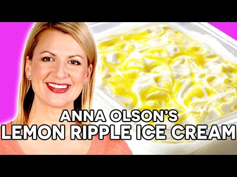 Anna Olson's Creamy Lemon Ripple Ice Cream Recipe!