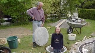 Bau und Entstehung der Modelleisenbahn-Gartenanlage LGB der Familienbahner Stand 2005