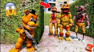 CAN ADVENTURE FREDDY HIDE FROM THE ZOMBIE ANIMATRONICS? (GTA 5 Mods For Kids FNAF RedHatter)