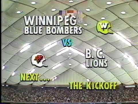 1985 CFL West Final Winipeg Blue Bombers vs B. C. Lions