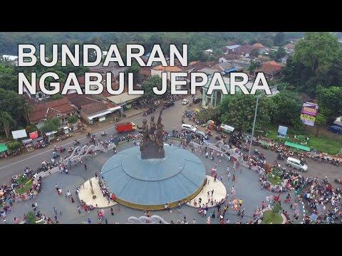 BUNDARAN NGABUL JEPARA TEMPAT KEREN DAN NGEHITS DIAMBIL MENGGUNAKAN DRONE  | VISIT KOTA JEPARA