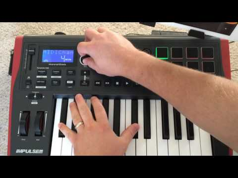 Novation Impulse 25 Demo with iPad