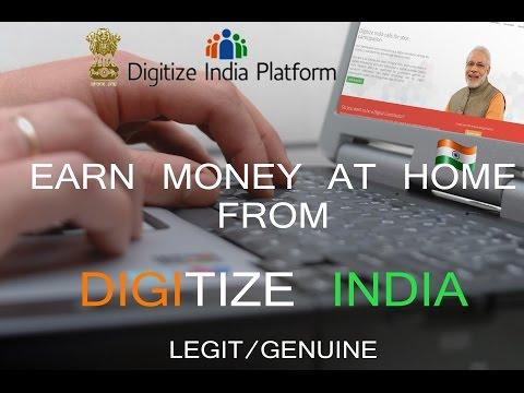 EARN MONEY/Rs. ONLINE AT HOME-DIGITIZE INDIA PLATFORM
