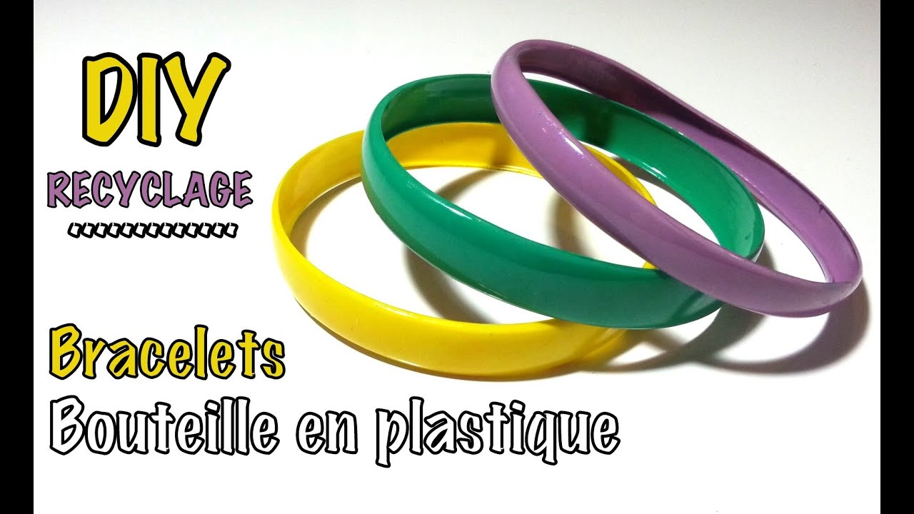 diy recyclage bracelets avec bouteille plastique youtube. Black Bedroom Furniture Sets. Home Design Ideas
